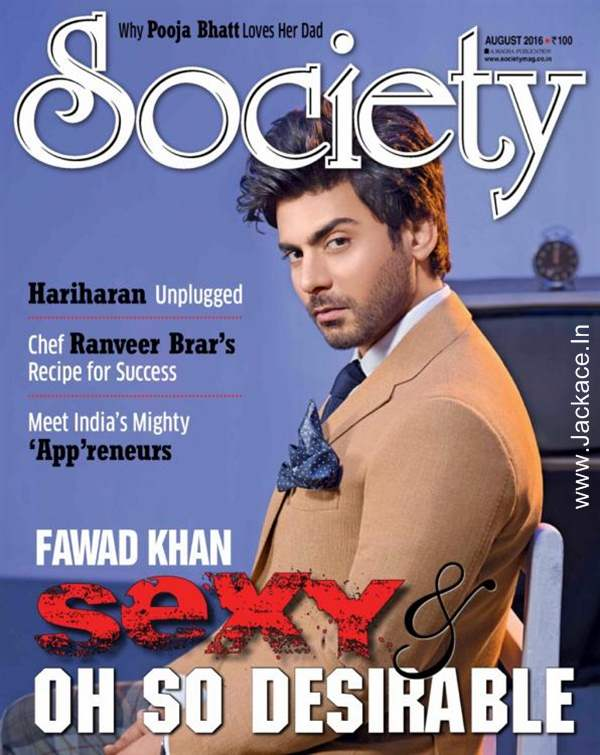 Fawad Khan On The Latest Cover Of Society Magazine