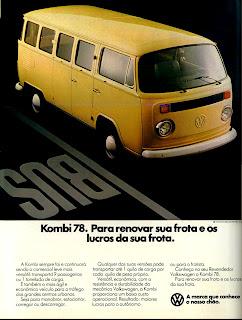 propaganda Kombi 78.  propaganda anos 70. propaganda carros anos 70. reclame anos 70. Oswaldo Hernandez..