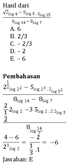 Pembahasan contoh soal logaritma