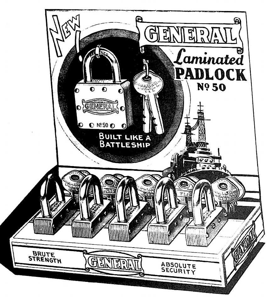 1900 Canadian padlocks by General, advertisement