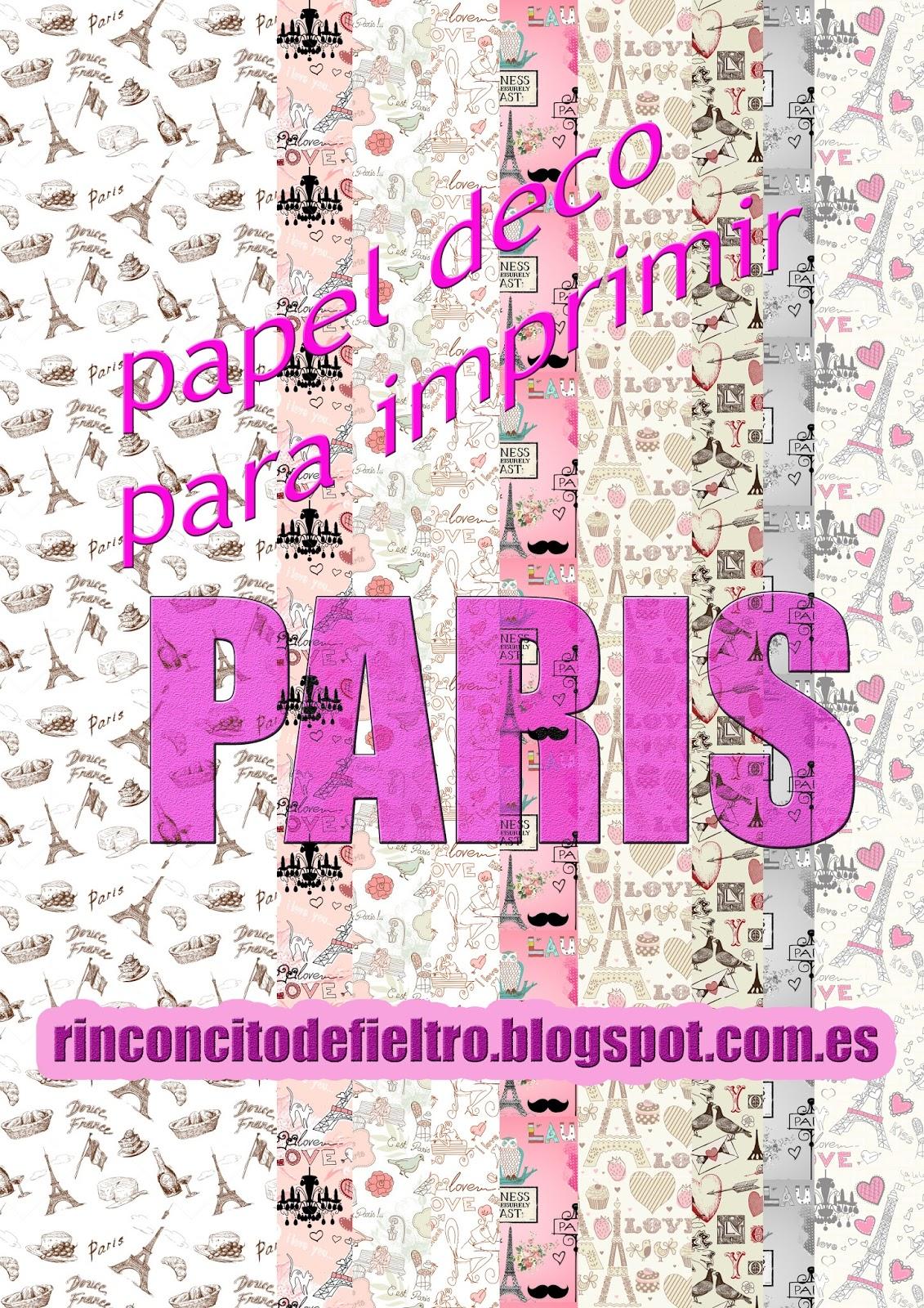 Mi Rinconcito De Fieltro Papel Scrapbook Para Imprimir Paris