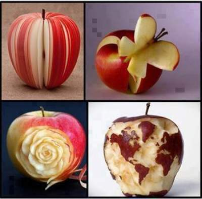 amazing apple carving