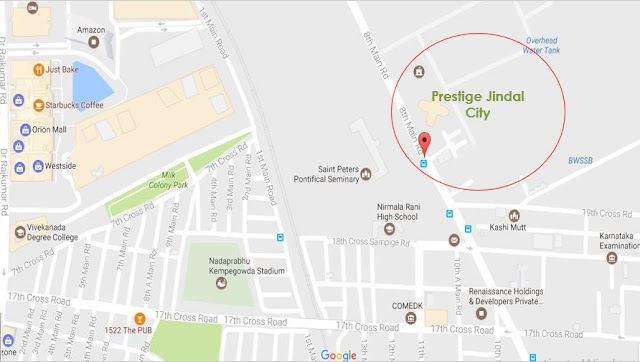 Prestige Jindal City Location Map