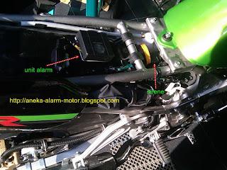 Cara pasang alarm motor pada Kawasaki Ninja 150 R