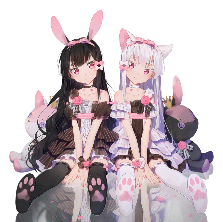 render Neko and Usagi