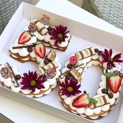 hiasan kek, gambar hiasan kek, hiasan kek nombor, cara hiasan kek nombor, contoh hiasan kek nombor