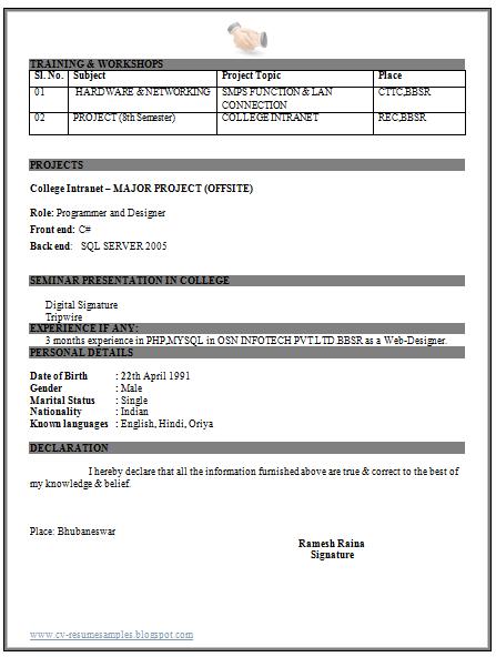 resume for server engineer