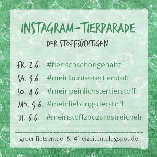 Instagram-Tierparade der Stoffsüchtigen