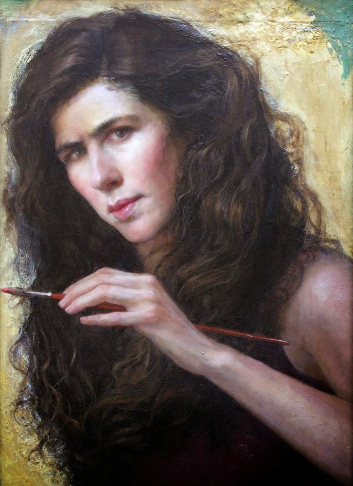 Gabriela Dellosso, Self Portrait, Portraits of Painters, Fine arts, Portraits of painters blog, Paintings of Gabriela Dellosso, Painter Gabriela Dellosso