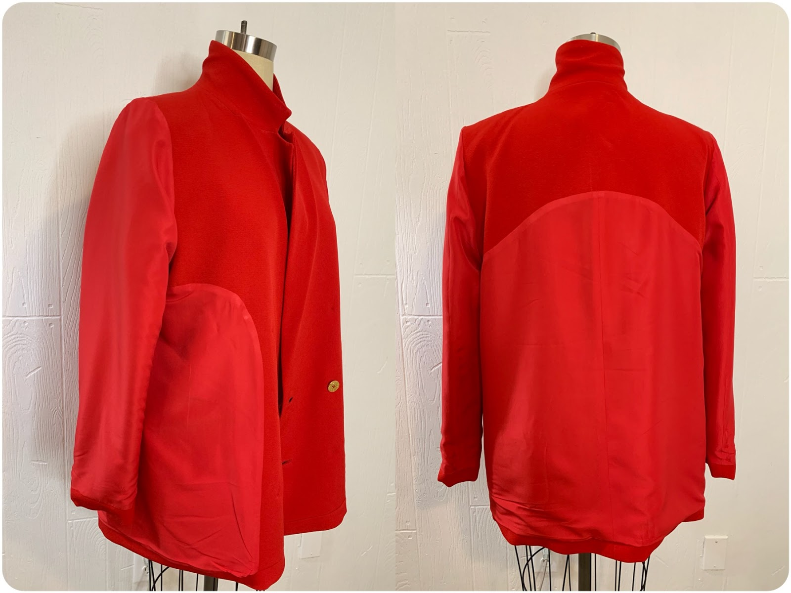 Red Power Jacket - Style Arc McKenzie Blazer -- Erica Bunker DIY Style!