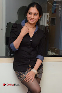 Telugu Actress Priyanka Pallavi Stills in Micro Mini Skirt at Nenosthaa Movie Song Launch at Radio City  0025.JPG