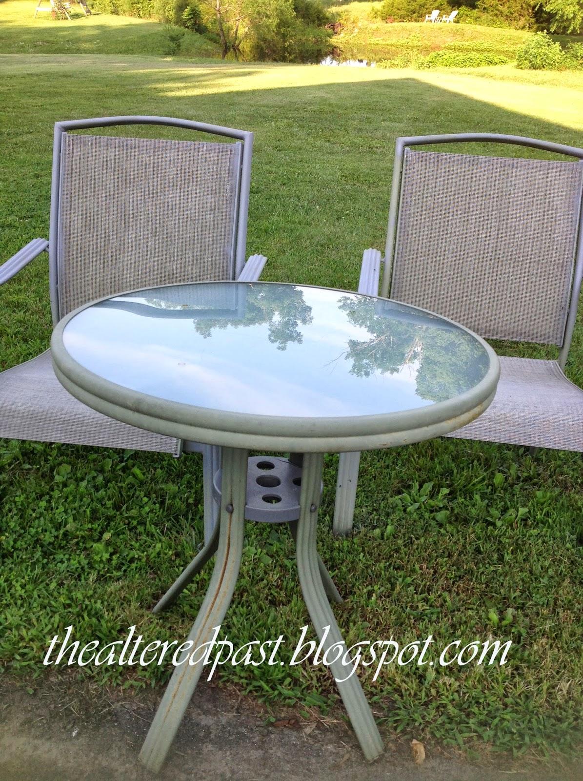 redo sling patio chairs fold out walmart spain hill farm set