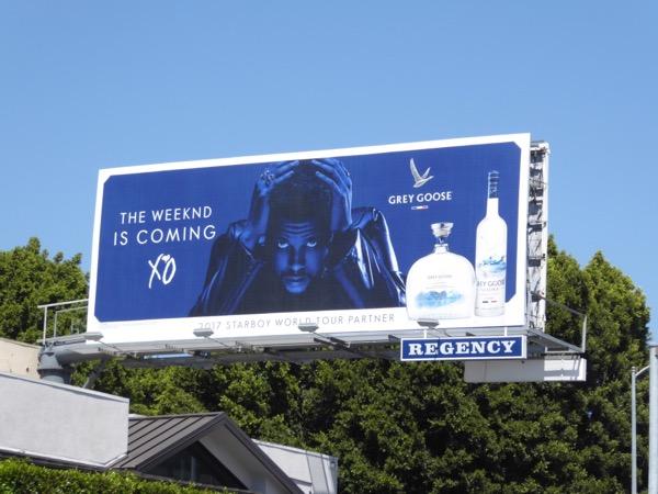 Weeknd Grey Goose vodka billboard