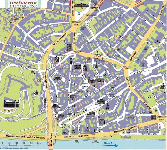 mappa-bratislava-città-vecchia-poracciinviaggio