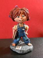 orme magiche Carl Ellie Up modellini statuette sculture action figure personalizzate fatta a mano super sculpey