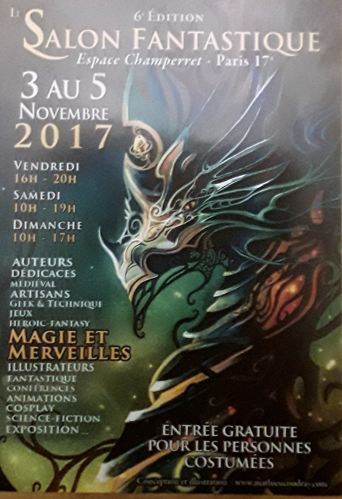 Mes aventures livresques salon fantastique 2017 for Salon fantastique paris