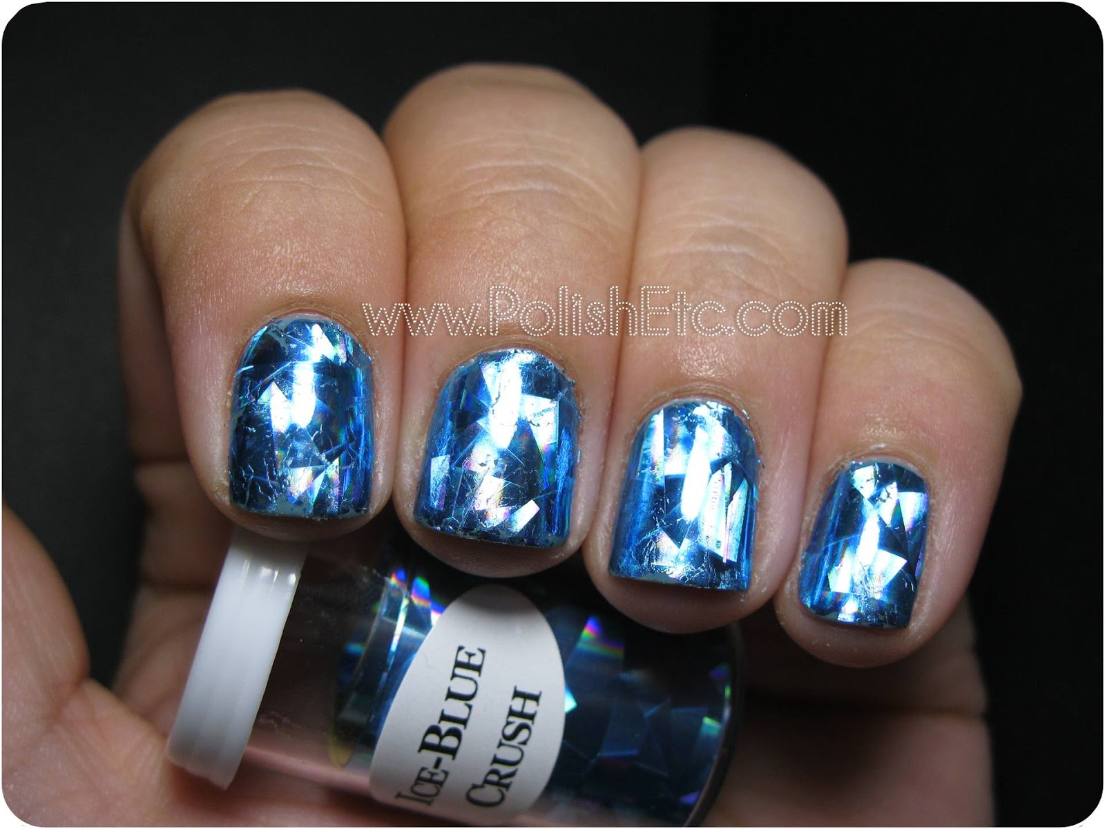 Nail Foils Ice Blue Crush From Dollar Nail Art Polish Etc