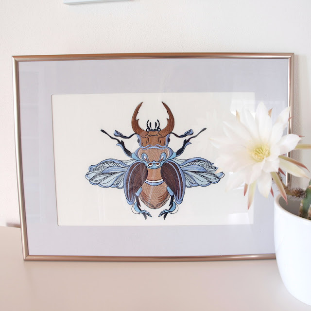 machine embroidery beetles машинная вышивка жуки