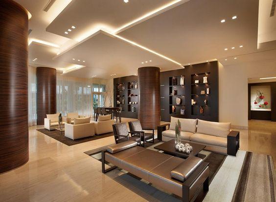 mẫu trần thạch cao giật cấp phòng khách