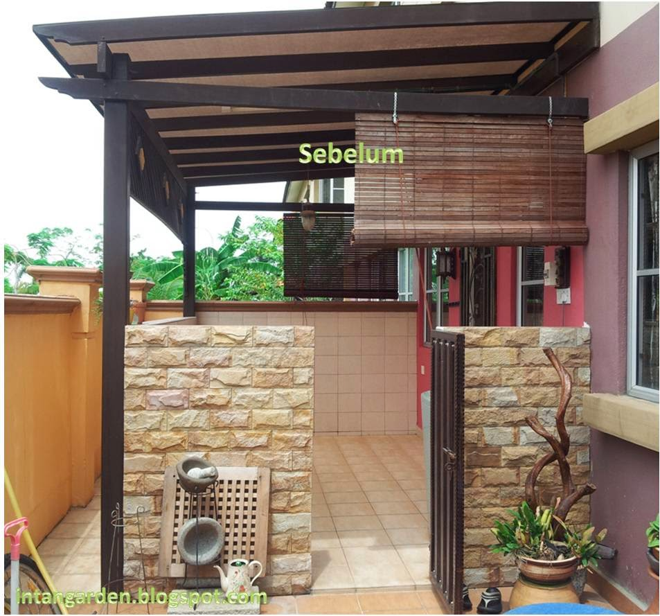 Ruang Dapur Kayu Cengal Intan Garden Desain Basah Diluar