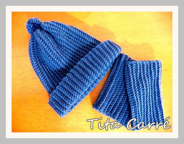 Gorro e Boots Cuffs em crochet