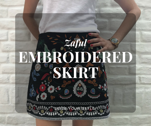 Zaful Embroidered Skirt Seize your Style!