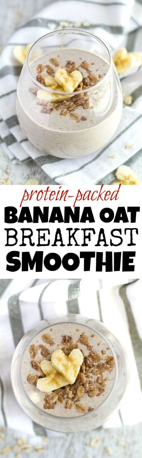 Banana Oat Breakfast Smoothie