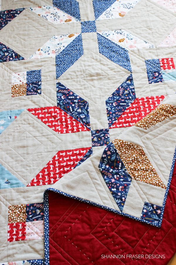 Forest Talk Winter Star Quilt