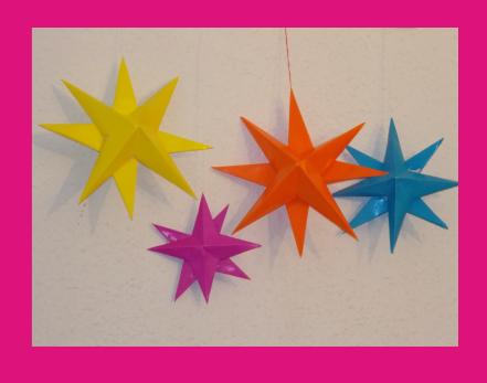 Estrellas 3D de papel