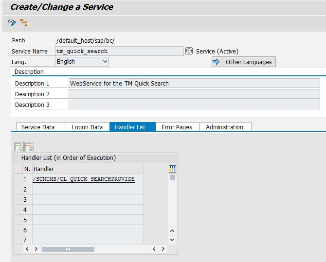 Activate the TM Quick Search in Netweaver | SAP ABAP