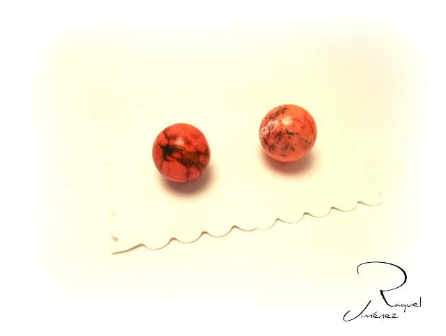pendientes-botón-coral