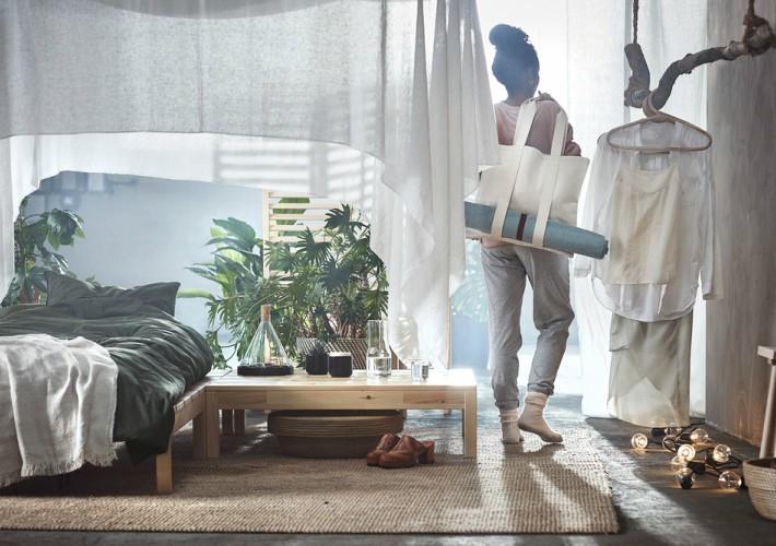 Hjärtelig la colección de IKEA para los amantes del yoga y el hygge