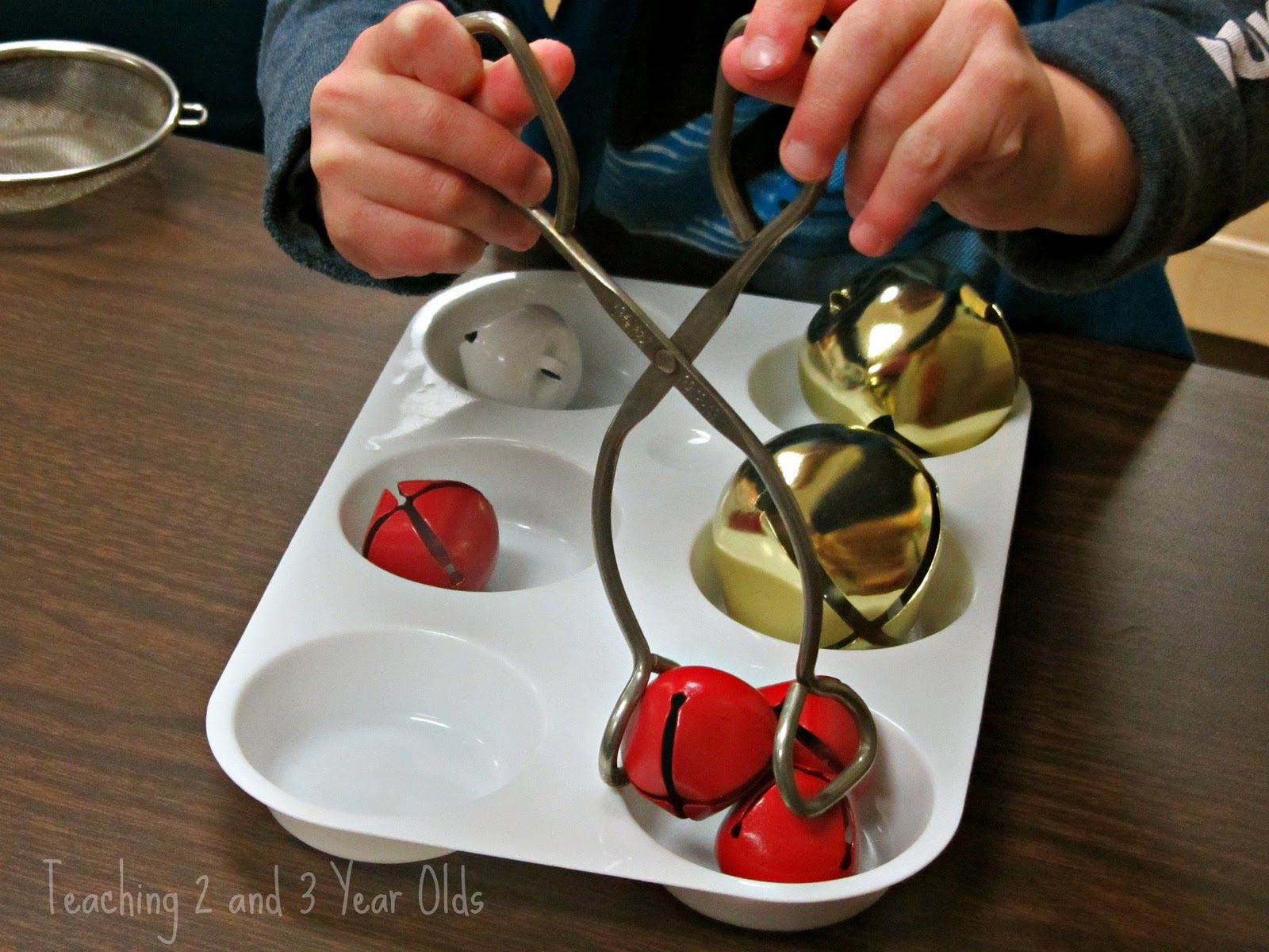 Preschool Christmas Fine Motor Using Jingle Bells