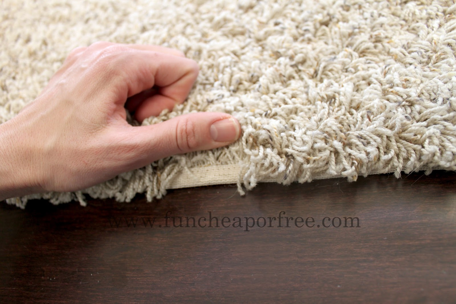 How to make an area rug out of remnant carpet - Fun Cheap ...
