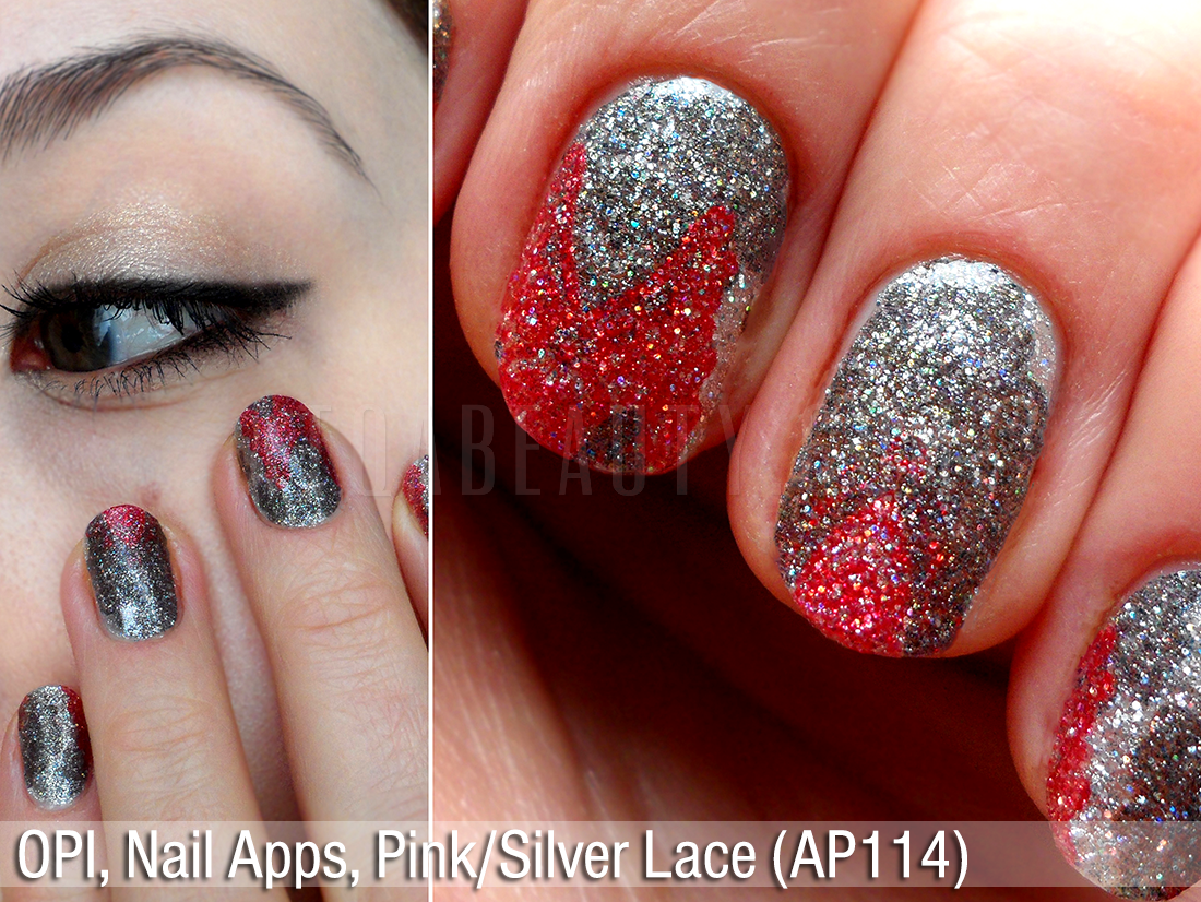 OPI Nail Apps Silver and Pink Lace (AP114)