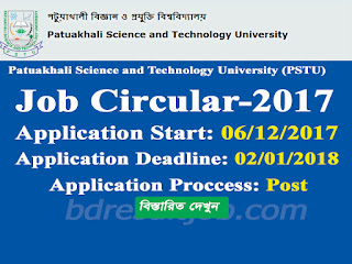 Patuakhali Science and Technology University (PSTU) Recruitment Circular