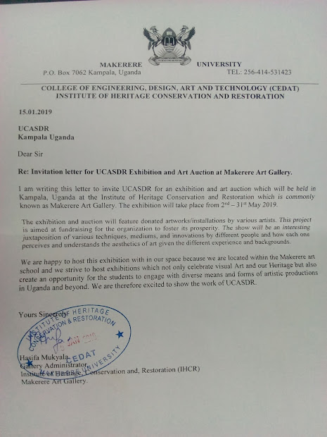 Tusiime Mathias' Art Invitation Letter Ucasdr