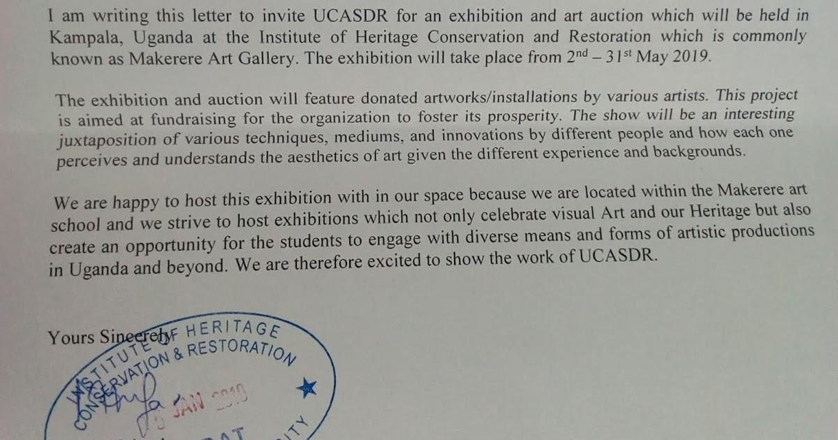 Tusiime Mathias' Art: Invitation letter for UCASDR