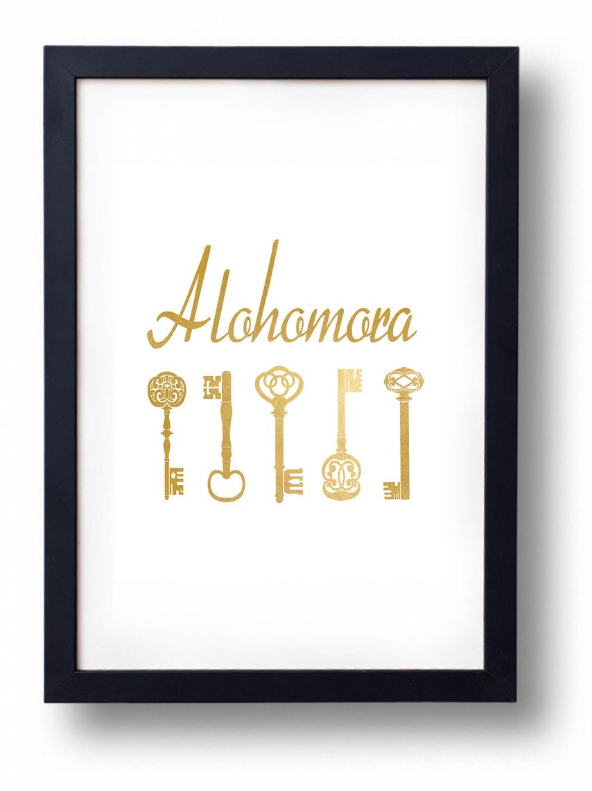 alohomora printable harry potter printable