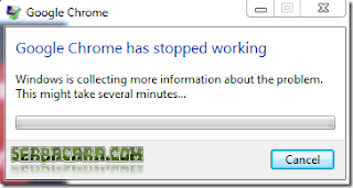 cara mengatasi google chrome has stopped working