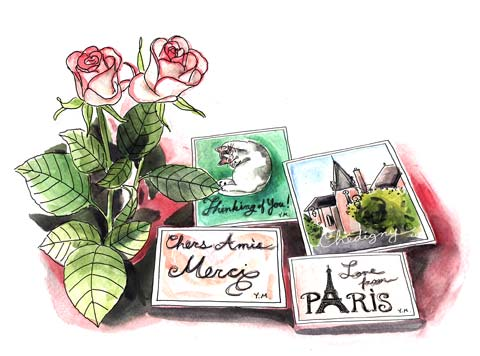 Postcards from Festival des Roses at Chédigny
