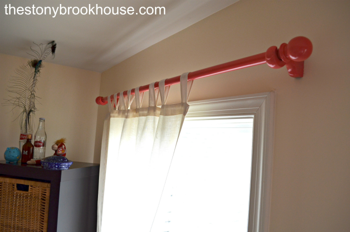 Painted Coral Curtain Rods