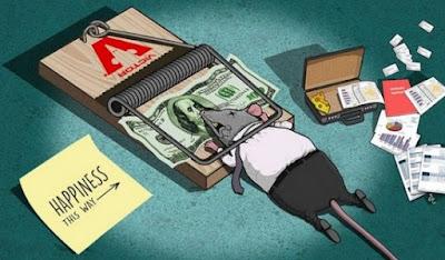 Meskipun menyiksa, uang menjadi satu-satunya alat kebahagiaan