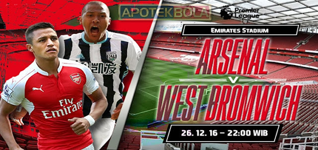 Prediksi Pertandingan Arsenal vs West Bromwich Albion 26 Desember 2016