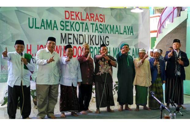 Teriakan 'Prabowo' Warnai Deklarasi Ulama se-Kota Tasikmalaya Dukung Jokowi-Maruf