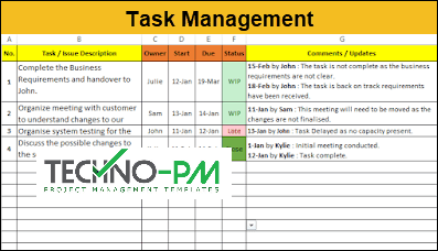 Free Task Management Templates, task management template