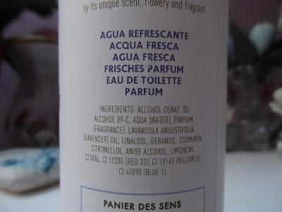 Panier des Sens Lavender zloženie