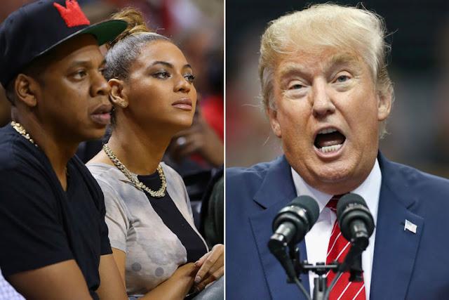 Donald Trump arremete contra Beyoncé y Jay Z