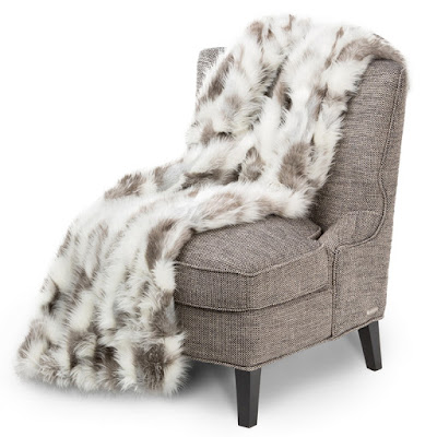 Bryant Faux Fur Throw by Michael Amini