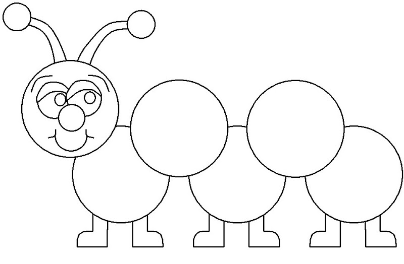 - Caterpillar Coloring Page